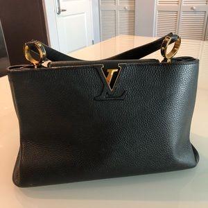 Authentic Louis Vuitton Capucines MM Black